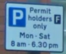 parking restrictions sign, Free after 6:30 pm