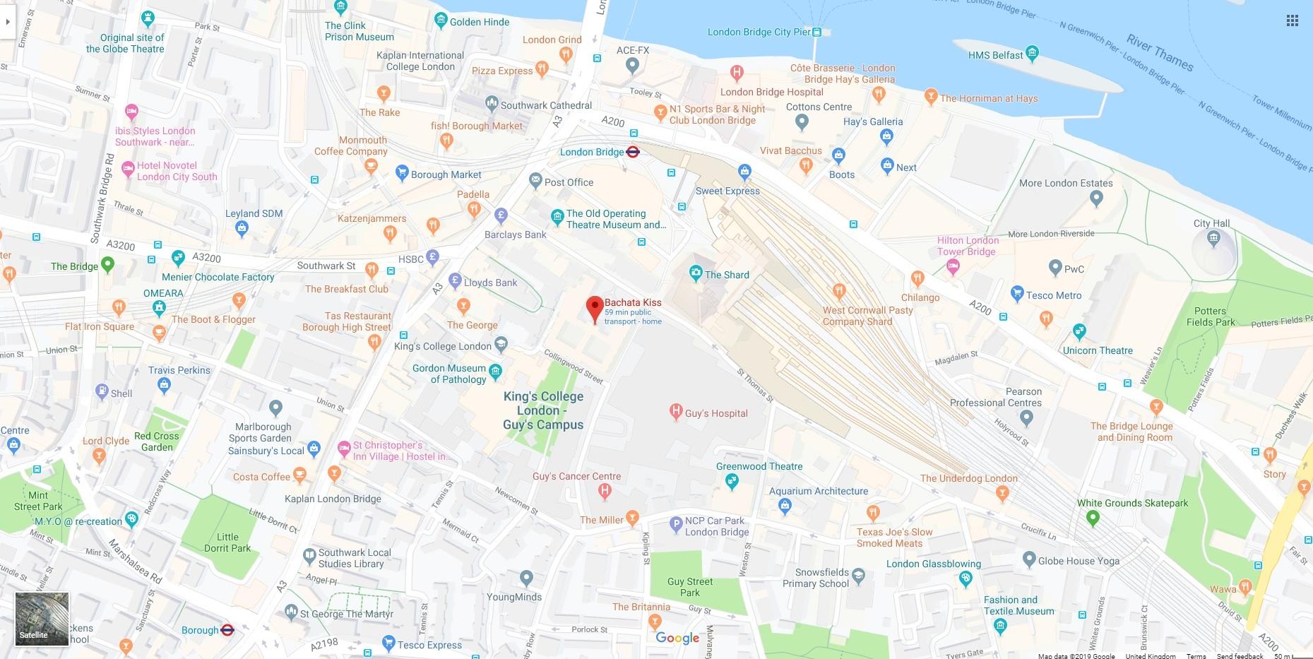 Bachata Kiss map view