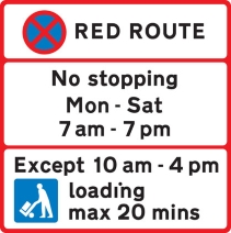 parking ristrictions sign, Free after 7 pm